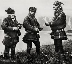 Image of three Sámi men in Norway