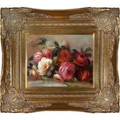 Pierre-Auguste Renoir Discarded Roses Hand-painted Framed Art