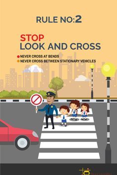 Poster On Road Safety Tips