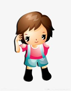 A child standing thinking PNG and Clipart