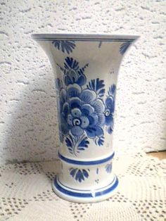 Large Blue Delft Vase Handgeschilderd Holland | eBay