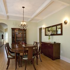 Another awesome coffered ceiling.