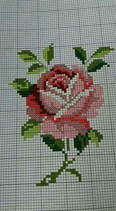 New embroidery flowers rose free pattern 24 ideas Cross Stitch Art, Cross Stitch Borders, Cross Stitch Designs, Cross Stitching, Cross Stitch Embroidery, Cross Stitch Patterns, Cross Stitch Flowers Pattern, Embroidery Patterns Free, Embroidery Hoop Art