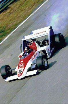 ——— Stefan+Johansson+Spirit+Honda+F1+1983+testing ———-