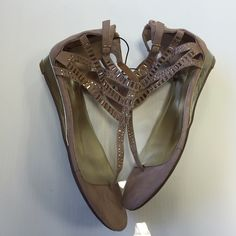 Bebe taupe brown sandals size 7 new Bebe taupe brown sandals size 7 new with tags so cute and perfect for the summer season bebe Shoes Sandals