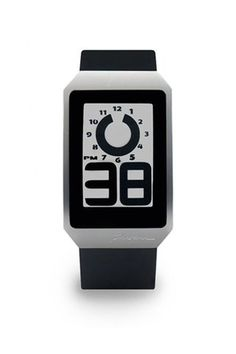 Unique digital watch with rotating hour indicator. I like this look.
