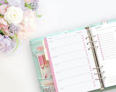 Digital  2016 A5  Pastel Day Planner  Printable by imapapernerd
