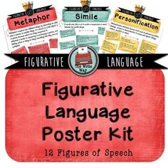 Figurative Language Posters - These posters are a great way to reinforce figurative language and a colorful addition to any secondary school classroom. Each poster displays a definition and several examples from both literature and popular culture.  There are 12 posters in total including: Metaphor, Simile, Personification, Hyperbole, Alliteration, Assonance, Onomatopoeia, Euphemism, Anaphora, Oxymoron, Pun and Allusion.These posters are attractively presented and will appeal to teenagers.