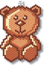 Teddy Bear Earring by Megan's Beaded Designs