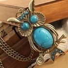 Owl turquoise necklace by EmpathyWelcome on Etsy