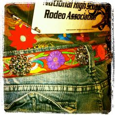 Custom painted leather belts on Etsy, $75.00