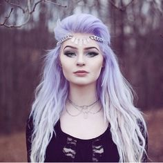 Purple Lavender Lilac Hippy Bohemian  Hair Pastel Bright Colour Color Coloured Colored Curls Curl Curly