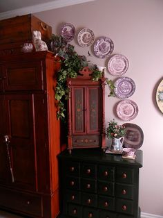 decorating with transferware plates