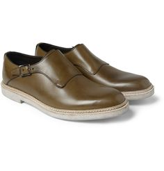 Valentino Leather Monk-Strap Shoes | MR PORTER