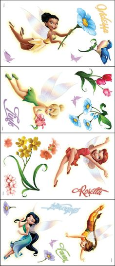 New Fairies Movie Tinker Bell Room Appliques - Wall Sticker Outlet