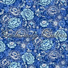 181   Петь блюз - LG Цветочные (DK синий)