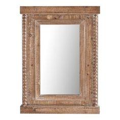 Eternal Brown Wood Framed Mirror Foyer Decorating Wall Decor