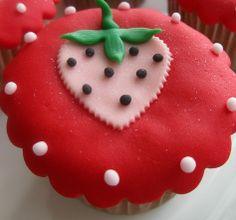 aardbeien cupcake