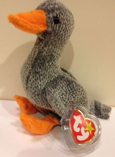 Ty Beanie Babies Honks The Goose 1999 MWMT Plush Collectible Toy W/ Pellets
