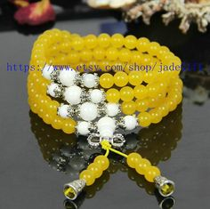 Free Shipping   Tibetan  natural yellow  jade  Mala by jadeGift, $26.99