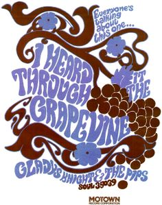 "Motown print ad for Gladys Knight & The Pips ""I Heard it Through the Grapevine"" (1967)"