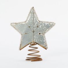 Spiral Star Tree Topper in HOLIDAY TRIM THE TREE Skirts+Toppers at Terrain