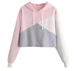 Cute Womens Sweatshirt,KIKOY Girls Long Sleeve Hoodie Tops Pullover Blouse Sale - Pink a Medium Sweatshirt Femme, Crop Pullover, Cropped Hoodie, Hoodie Sweatshirts, Hoody, Casual Mode, Very Short Dress, Cap Dress