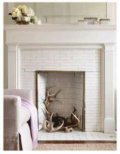 Tiled fireplaces - classical elegance with Subway style tiles. www.piazzatiles.com