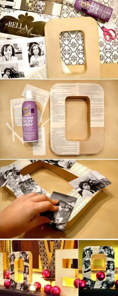 DIY Photo Letters diy craft crafts home decor easy crafts diy ideas diy crafts crafty diy decor craft decorations how to home crafts tutorials teen crafts Photo Craft, Diy Photo, Cute Crafts, Crafts To Do, Teen Crafts, Easy Crafts, Craft Gifts, Diy Gifts, Handmade Gifts