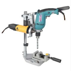 Cheap drill attachment, Buy Quality power tool accessories directly from China electric drill stand Suppliers: Dremel Electric Drill Stand Power Tools Accessories Bench Drill Press Stand DIY Tool Base Frame Drill Holder Drill Attachments Homemade Bench, Homemade Tools, Diy Tools, Hand Tools, Drill Press Stand, Drill Press Diy, Homemade Drill Press, Stand Power, Drill Holder