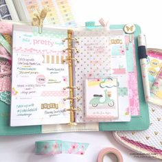 Planners Ideas and Accessories       ChelleyDarling: Webster's Pages Light Teal Color Crush Planner Decoration