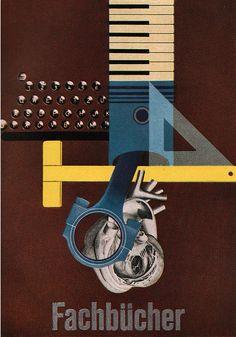 Poster by Michael Engelmann,  7/1955,   from Gebrauchsgraphik.