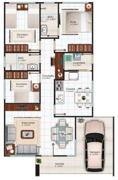 Para quem procura por Plantas de casas até 100m2, encontre três modelos logo abaixo e saiba mais sobre essas construções.