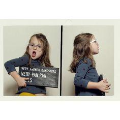 Campanha da marca de óculos Very French Gangsters.  A marca francesa  é especializada em acessórios para a crianças entre 3 a 10 anos.