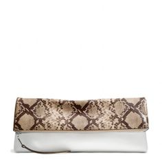 The The Large Clutchable In Python Printed Leather from Coach Clutch Purse f4140a054a41d
