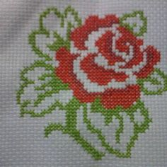 This Pin was discovered by Dia Cross Stitching, Cross Stitch Embroidery, Hand Embroidery, Cross Stitch Heart, Cross Stitch Flowers, Cross Stitch Designs, Cross Stitch Patterns, Cross Stitch Beginner, Fair Isle Knitting Patterns
