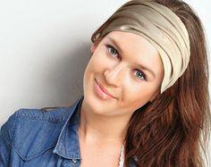 Black Headband Wide Headband Yoga Headband by FeathersandFancy