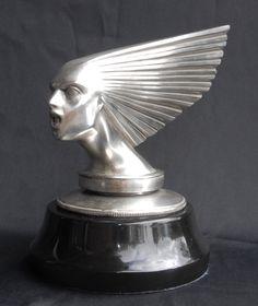 Photo of Silver Bronze Lalique Victoire Bust Art Deco