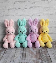 : Soft bunny crochet plush pattern This soft bunny amigurumi is a perfect toy for your child. Crochet your own bunny from yarn Alize Softy with this free amigurumi plush pattern. Crochet Animal Amigurumi, Crochet Bunny Pattern, Crochet Amigurumi Free Patterns, Crochet Animal Patterns, Plush Pattern, Crochet Animals, Crochet Dolls, Amigurumi Doll, Knitting Patterns