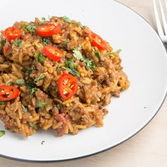 Or maybe you prefer beef and a pile of saucy, spicy rice. | 25 Delicious And Easy Dinners To Make With 1 Pound Of Beef