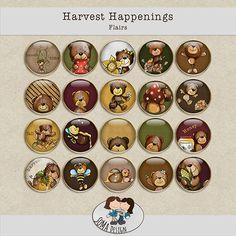 SoMa Design: Harvest Happenings - Flairs Happenings, Digital Scrapbooking, Harvest, Decorative Plates, Shit Happens, Holiday Decor, Kit, Design, Home Decor