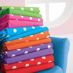 The Company Store Polka Dot Party, Polka Dots, Big Girl Rooms, Kids Rooms, Toile Bedding, Rainbow Bedroom, The Company Store, Comforter Cover, Nursery Room