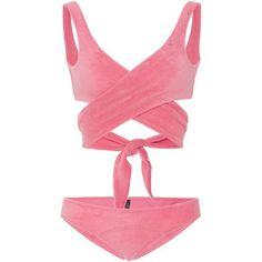 Lisa Marie Fernandez Marie-Louise Terry Wrap Bikini Set