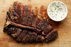 Porterhouse Steak with Herbed Butter