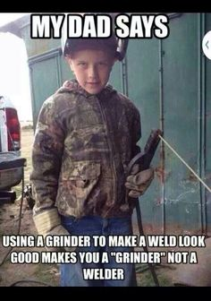 Exactly right. If you can't make the weld look good drop that stinger