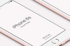 iPhone 6s Psd Rose Gold Mockup