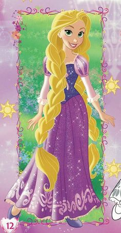 Rapunzel with her long golden hair in braided pigtails Walt Disney Princesses, Disney Princess Facts, Disney Princess Coloring Pages, Disney Princess Rapunzel, Disney Princess Pictures, Tangled Rapunzel, Disney Princess Dresses, Princess Art, Disney Tangled