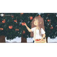 🍎🍎🍎🍎 De pequeña vivía en un manzanal y recogían manzanas en capachos de mimbre, me siguen encantando las manzanas 🍎🍎🍎💕 #illustration #draw #drawing #sketch #digitalart #digitalpaint #love #cute #lovely #clipstudiopaint #apple #manzana #cosecha #harvest Illustration, Harvest, Digital Art, Polaroid Film, Moon, Apple, Queen, Drawings, Painting