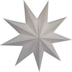 9 Point White Laminate Star Lantern
