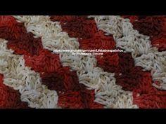 Passo a passo Ponto Diagonal em Crochê - YouTube